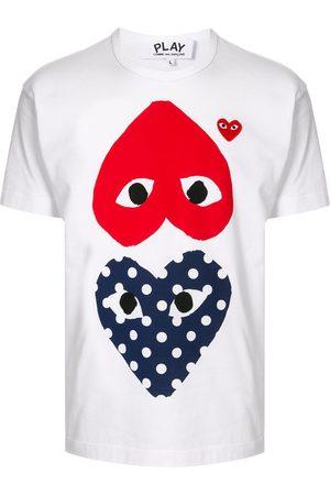 Comme des Garçons Camiseta con cuello redondo y estampado de corazón