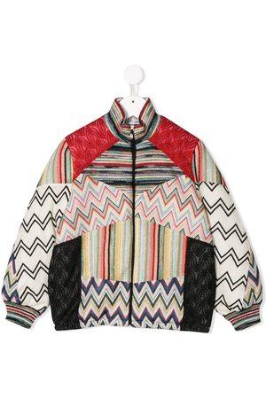 Missoni Bomber - Knit detail bomber jacket