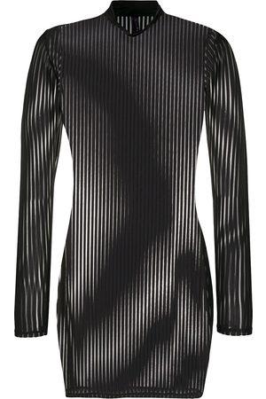 MAISON CLOSE Vestido transparente a rayas