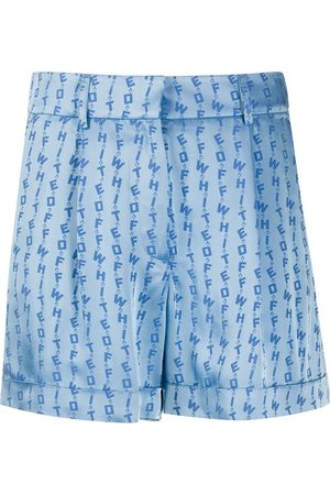 OFF-WHITE Mujer Pantalones cortos - LOGO SHORTS LIGHT BLUE NO COLOR