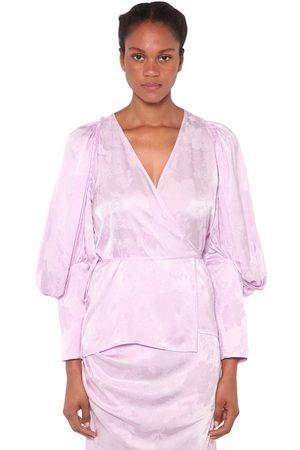 ACT N°1   Mujer Camisa De Satén Jacquard 36