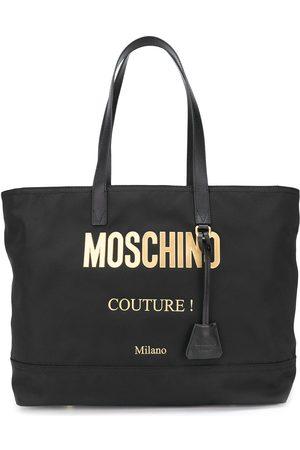 Moschino Bolso shopper con placa del logo