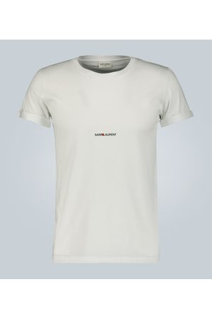 Saint Laurent Camiseta Signature de algodón