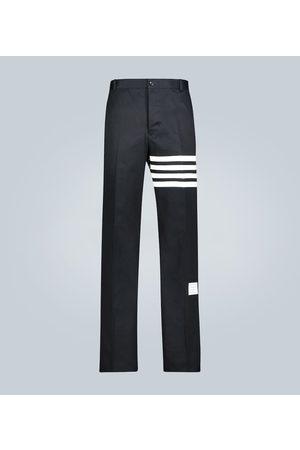 Thom Browne Pantalón 4-Bar de sarga de algodón