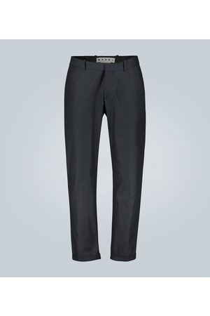 Marni Pantalones de sarga de algodón