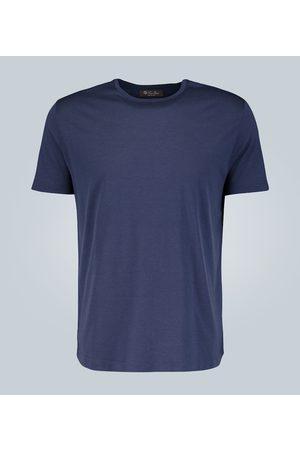 Loro Piana Camiseta en mezcla de algodón y seda