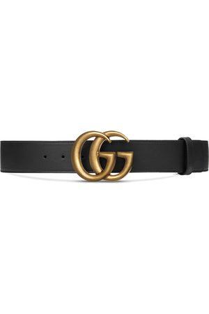 Gucci Cinturón de piel con hebilla doble G