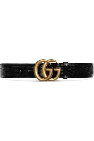 Gucci Cinturón de Cocodrilo con Hebilla de Doble G