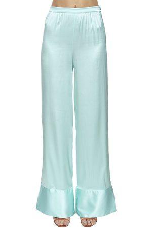 Taller Marmo | Mujer Pantalones De Seda Con Cintura Alta Y Pierna Ancha 38