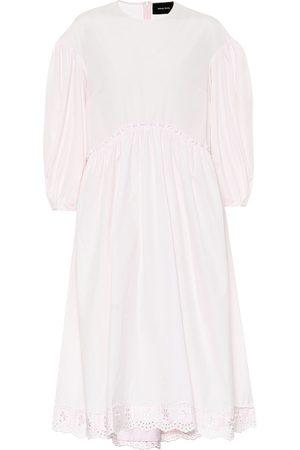 Simone Rocha Vestido de popelín de algodón