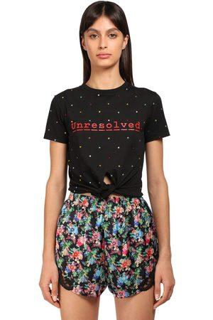 Paco rabanne   Mujer Camiseta De Algodón Con Estampado Y Lazo Xs