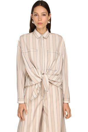 SUNNEI | Mujer Camisa Oversize De Algodón Y Lyocell /grey Xs