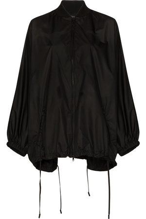 VALENTINO Mujer Abrigos largos - Knit detail batwing raincoat