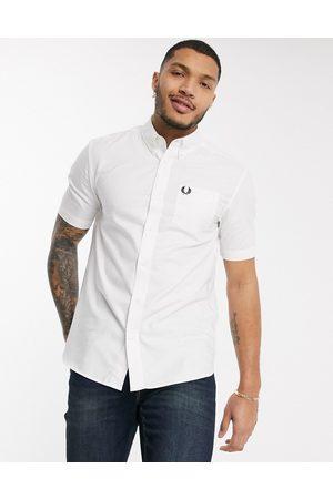 Fred Perry Camisa Oxford blanca de manga corta de -Blanco