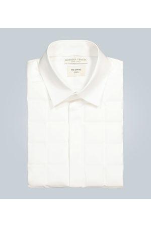 Bottega Veneta Camisa formal con pechera acolchada