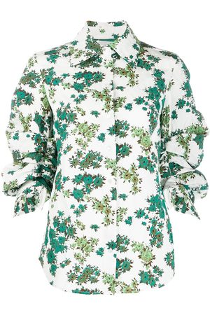 Victoria Victoria Beckham Camisa con mangas fruncidas y motivo floral