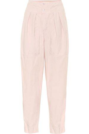 Isabel Marant, Étoile Pantalones Mariz de algodón cropped