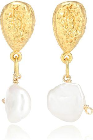 Alighieri Exclusivo en Mytheresa – aretes The Late Night Twinkling con baño en oro de 24 ct con perlas