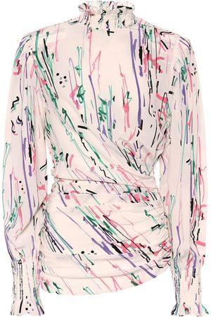 Isabel Marant Blusa Fantine de seda estampada