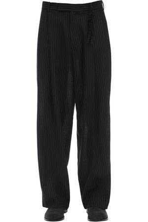Rochas | Hombre Pantalones De Lana Virgen Con Pierna Ancha 48