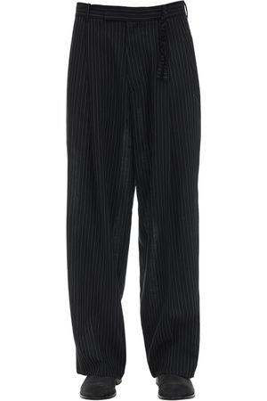 Rochas | Hombre Pantalones De Lana Virgen Con Pierna Ancha 50