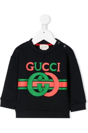Gucci Sudadera con estampado de G entrelazada