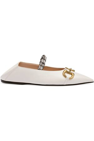 Gucci Bailarina plana piel con Horsebit para mujer