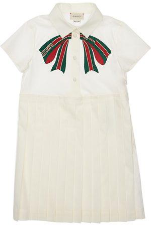 Gucci Vestido Plisado De Popelina De Algodón