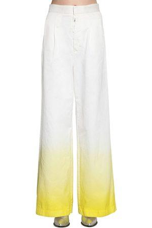 UNRAVEL   Mujer Jeans De Denim De Algodón Degradé Con Pierna Ancha /amarillo 36