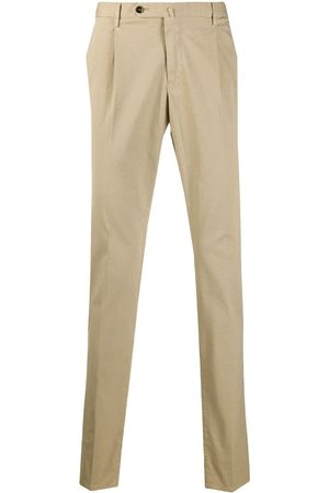 PT01 Pantalones chinos slim de talle medio