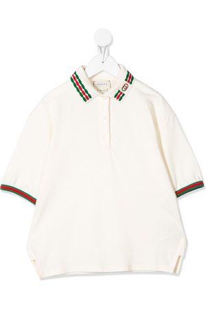 Gucci Web embroidered polo shirt