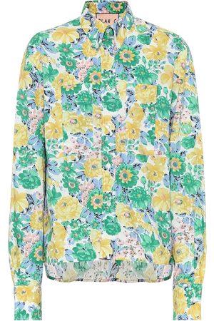 Plan C Camisa de popelín de algodón floral