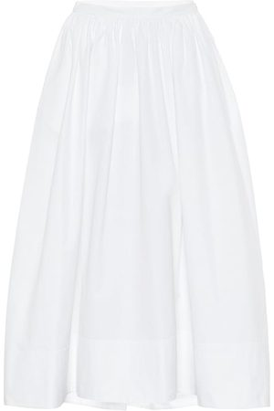 Jil Sander Mujer Midi - Falda midi de popelín de algodón