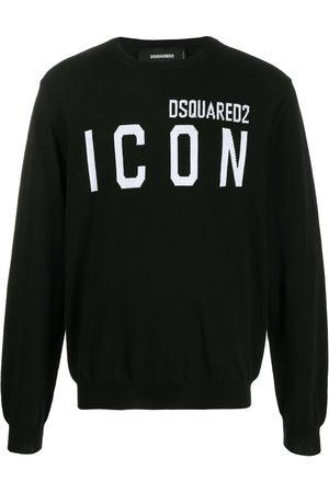 Dsquared2 Jersey con logo ICON en intarsia