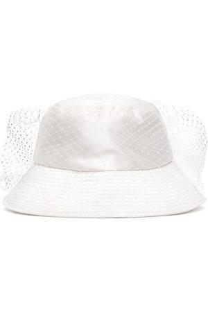 Jennifer Behr Sombrero de pescador con velo de malla Elaine