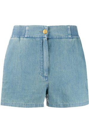 Gucci Pantalones cortos de tejido cambray con ribetes