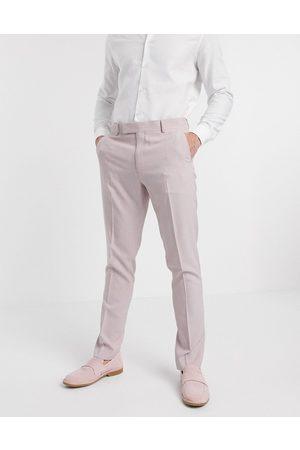 ASOS Pantalones de traje ajustados sombreados en rosa té de Wedding