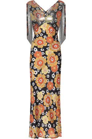 Paco rabanne Exclusivo en Mytheresa - vestido de fiesta floral con malla