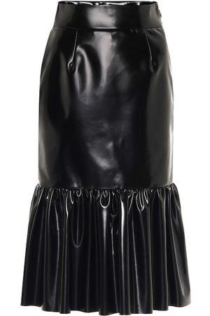 Miu Miu Falda midi de piel sintética
