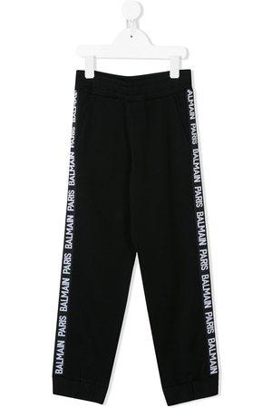 Balmain Pantalones con logo lateral