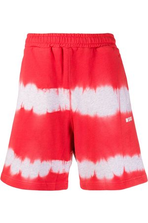 Msgm Pantalones cortos de deporte con estampado tie-dye