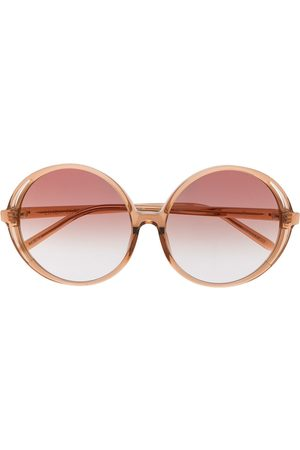 Linda Farrow Gafas de sol Bianca con montura redonda