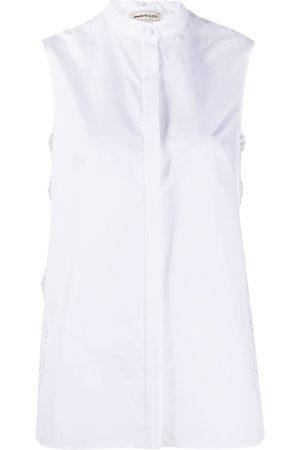 Alexander McQueen Camisa sin mangas con encaje incorporado