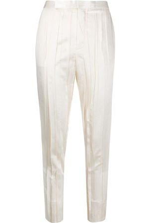 Saint Laurent Pantalones de vestir con efecto arrugado