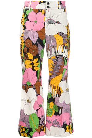 La DoubleJ Pantalones Hendrix con motivo floral