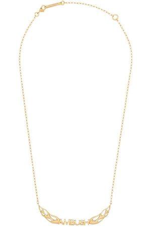 AMBUSH Collar con colgante de llama bañado en oro