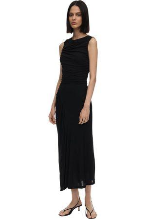 Atlein | Mujer Vestido Midi De Crepe Jersey Drapeado 34