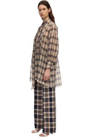 Rokh | Mujer Vestido Camisero De Algodón Voile /gris 34