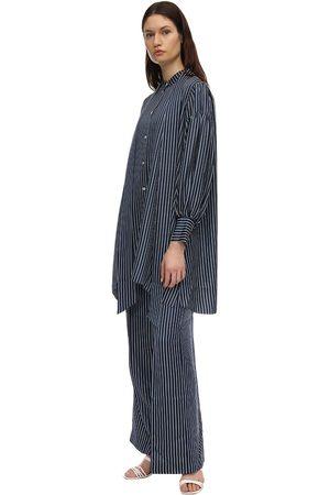 Rokh   Mujer Vestido Midi De Satén 34