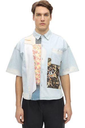 PAM PERKS AND MINI   Hombre Camisa De Algodón Con Aplicaciones S